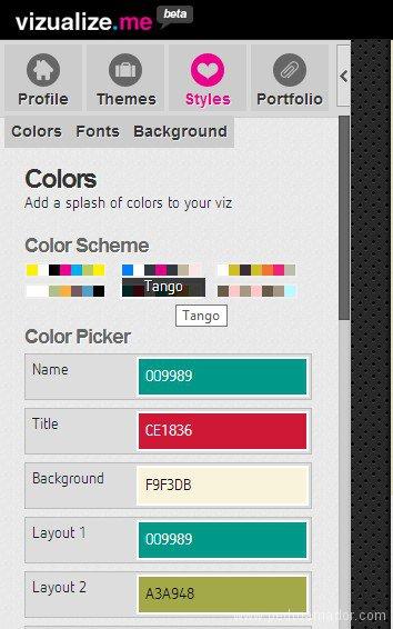 Colores - Como hacer un curriculum moderno Likedin