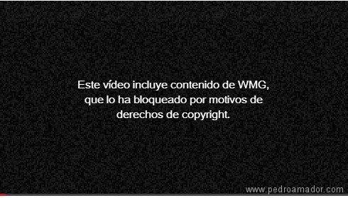 Contenido protegido YouTube