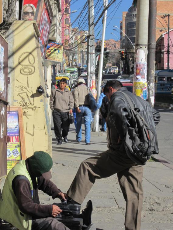 BOLIVIA Calles de la Paz