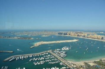 View from Marriot Dubai Marina ¿merece la pena vivir en Dubai?