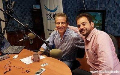 Preparando Zero Stress en Radio Montecarlo con Leonardo Lorenzo y Leonor Svarkas