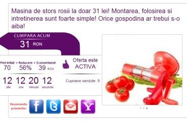 Nu Recomand: Masina de stors rosii din plastic