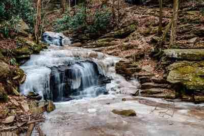 Rainbow Falls in Trough Creek State Park
