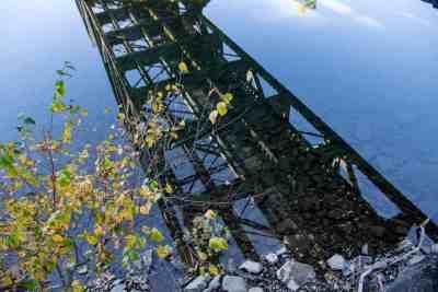 Reflection under a bridge in Sinnomahoning, PA