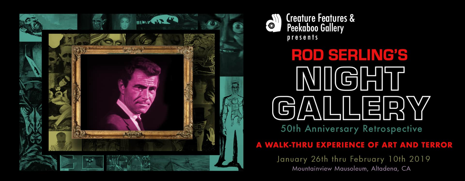 Rod Serling's NIGHT GALLERY invite