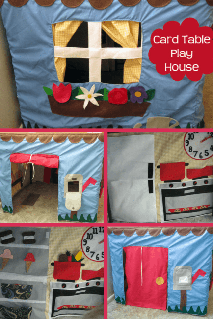DIY Card Table Playhouse