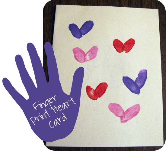 Finger Print Valentines Day Cards Peek A Boo Pages
