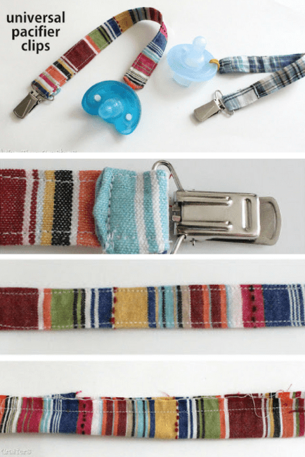 Pacifier Clips to clip pacifier to baby's clothes