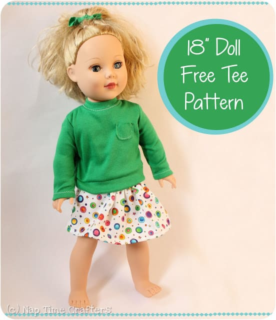 """FREE 18"""" Doll Clothes Pattern"""