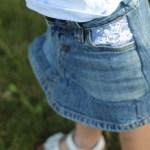 Lace Pocket Denim Skirt Tutorial