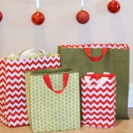 Fabric Gift Bags Free Pattern & Tutorial
