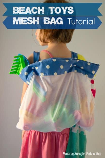 DIY Beach Toy Bag Idea