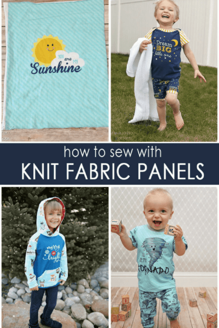 Sewing with knit panels