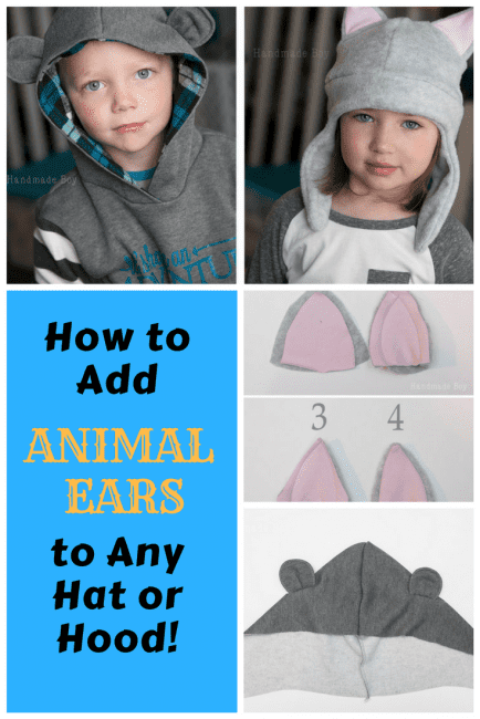 Adding Animal Ears to a Hood or Hat