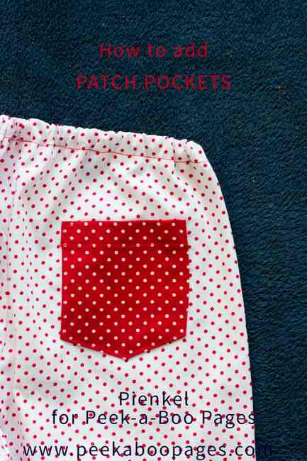 Sewing Patch Pockets