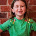 St. Patrick's Day Rainbow Button Shirt