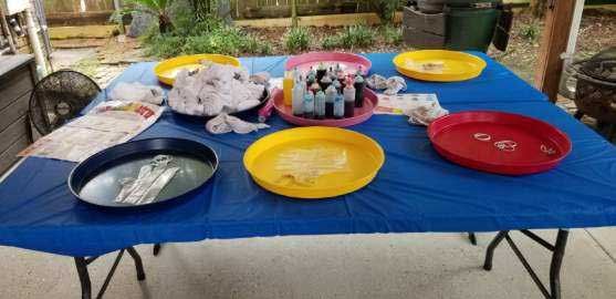 Tie Dying supplies