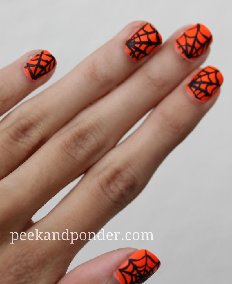 Halloween Spiderweb Nails