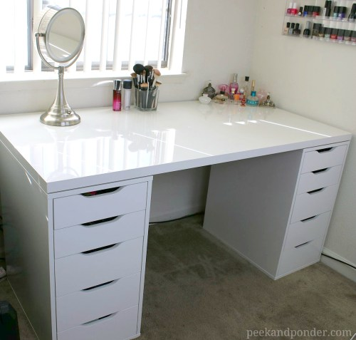 my IKEA makeup vanity
