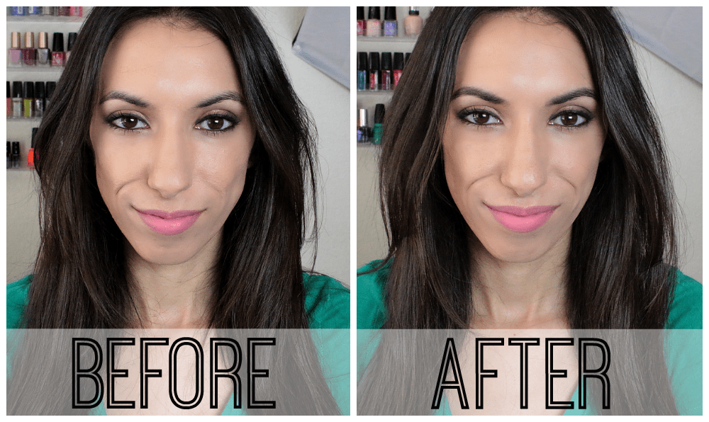 Eyebrows: Before & After Filling Them In