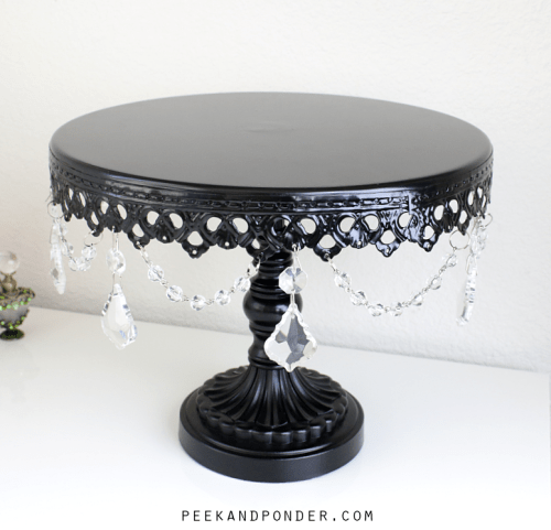 cake stand for displaying perfumes