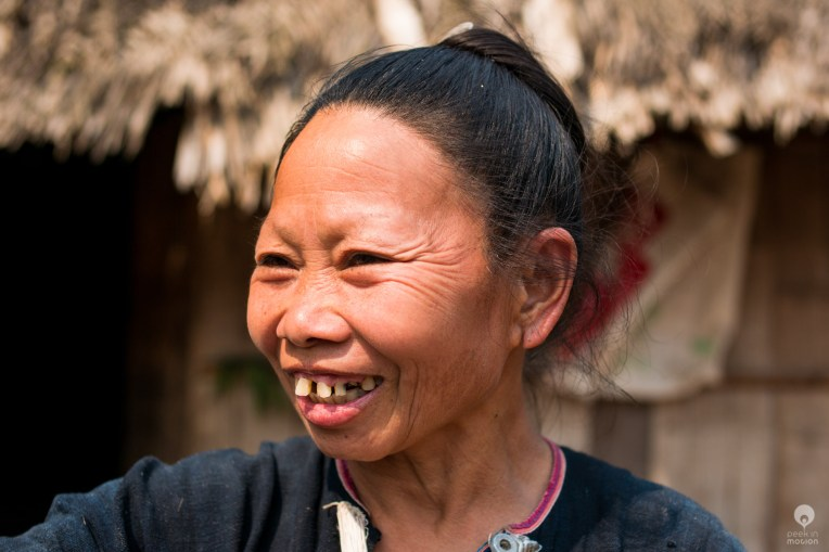 Happiness - Lanten village along the Nam Tha