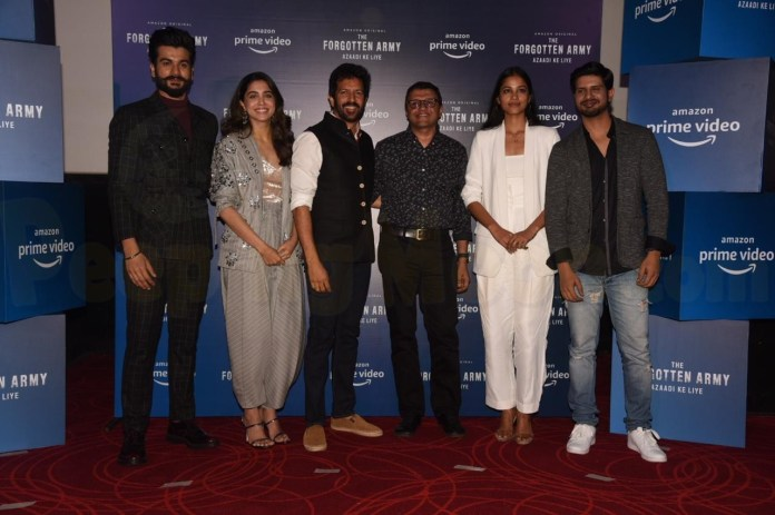 Kabir Khan, Sunny Kaushal and Sharvari launch the trailer of Amazon Prime's  'The Forgotten Army- Azaadi ke Liye'