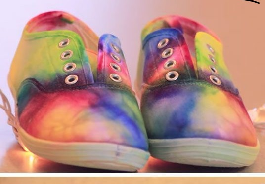 Rainbow on my shoes