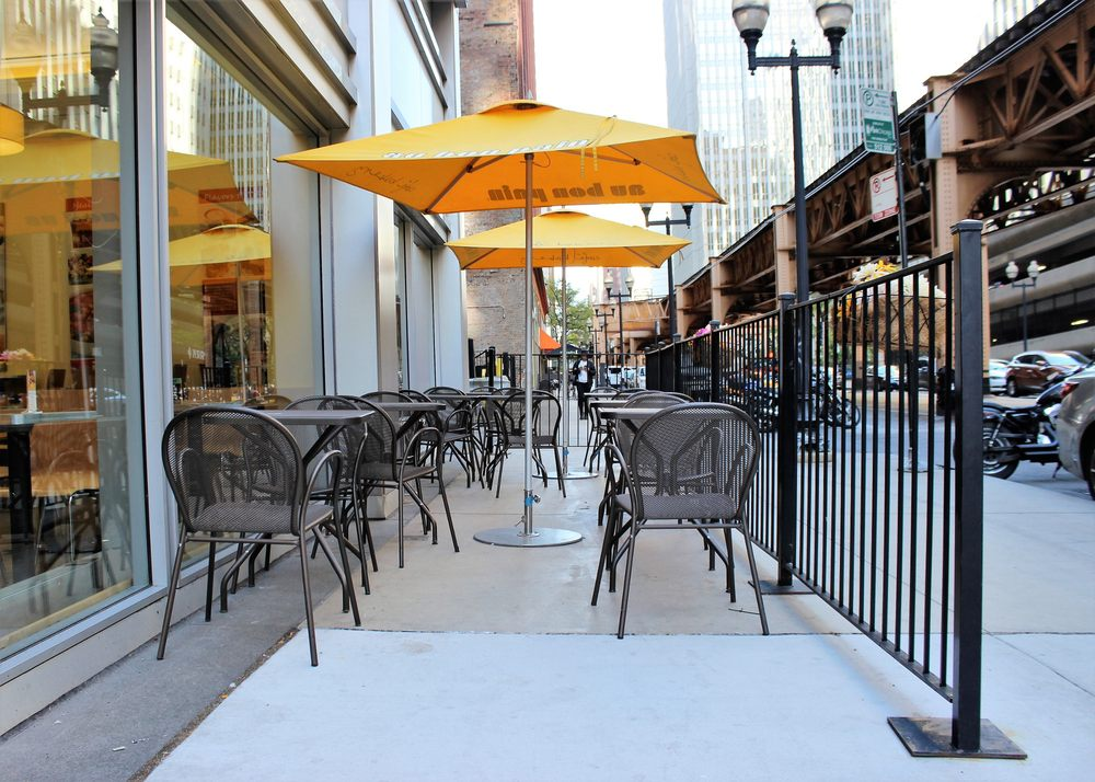 restaurant patio fencing peerless fence