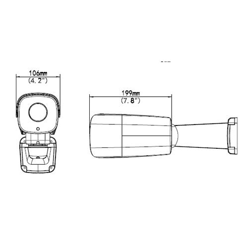 UNV-IPC744SR5-PF40 Ultra H 265 4MP Fixed Lens IR PT Kamera