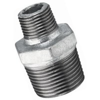 "Galvanised Iron Pipe Fittings - 1.1/2"" X 1"" Bspt Male Hex ..."