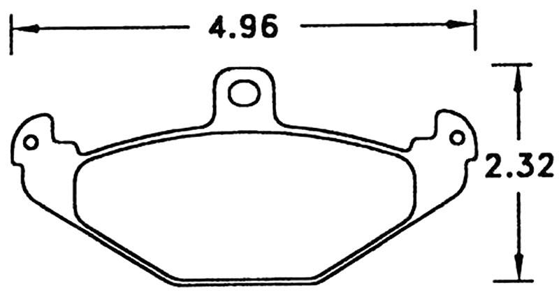 Hawk Brake Pad, Viper Rear, Lotus Elise Rear (D491