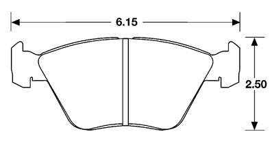 PFC Racing Brake Pad, Audi, BMW E32/E34/E36, Jag XJ (D394
