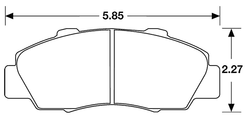 Hawk Brake Pad, Integra Type R, NSX, Prelude (D503