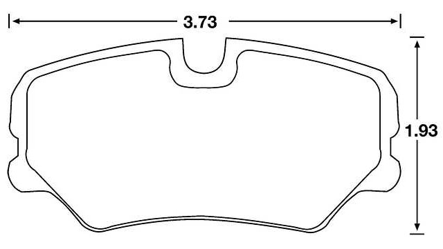 Hawk Brake Pad, Alfa, BMW, SAAB, Mercedes 190E (D439