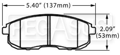 Hawk Brake Pad, 2003-05 Nissan 350Z, Infiniti G35 (D430