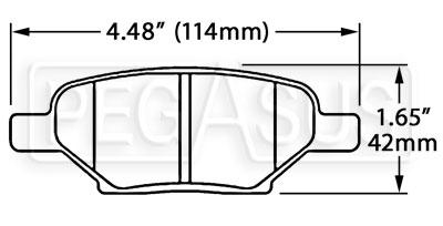 Hawk Brake Pad, Cobalt, G6, Saturn Ion Redline Rear (D1033
