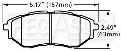 Hawk Brake Pad, Subaru Legacy GT, Tribeca (D1078