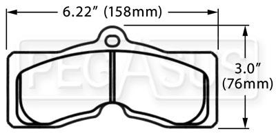 PFC Racing Brake Pad, 67-82 Corvette, 67-68 Firebird (D8