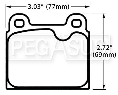 PFC Racing Brake Pad, Alfa, Ferrari, Porsche 911 (D45