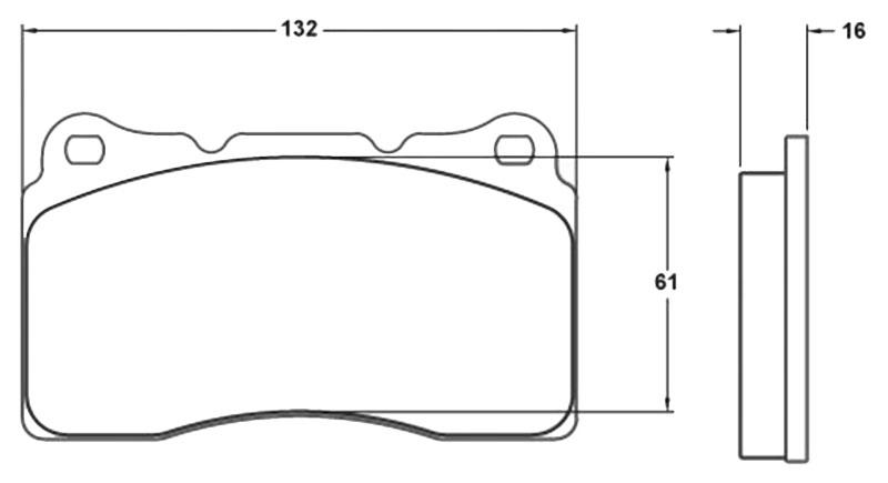 PFC Racing Brake Pad, Mitsubishi Evo and Subaru Impreza