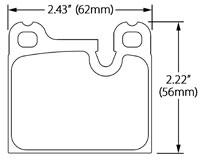 Hawk Brake Pad, Alfa, BMW, Porsche, Volvo (D31, D58, D861