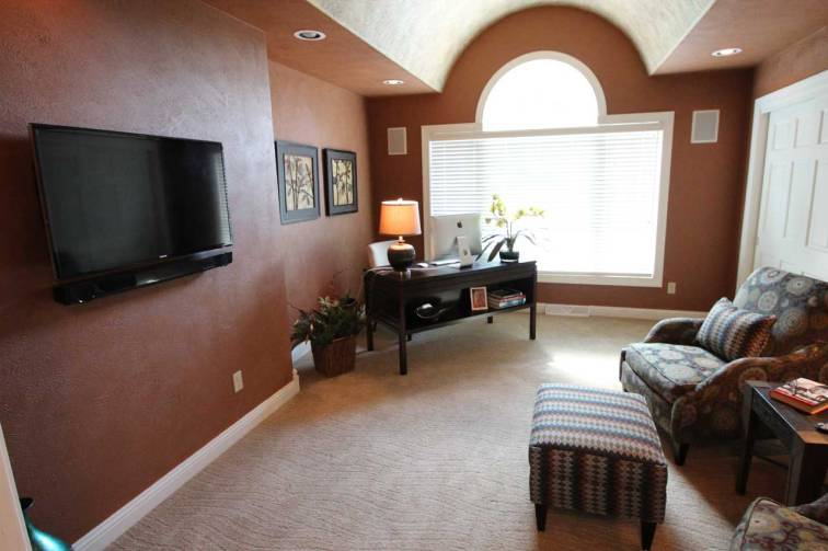 Interior Design Den Office | Pegasus Design Group | Milwaukee, WI