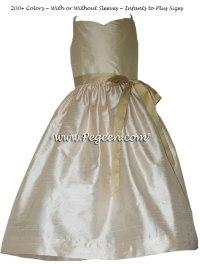 Gold: Gold Junior Bridesmaid Dress