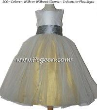 Grey And Yellow Junior Bridesmaid Dresses - Flower Girl ...