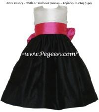 Black, Shock and Antique White Flower Girl Dresses Style ...