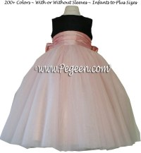 Black and Lotus Pink Silk and Tulle Ballerina Flower Girl ...
