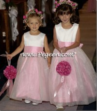 Organza and Satin Flower Girl Dresses in Bubblegum Pink ...