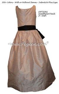 Ballet Pink and black Jr. Bridesmaids dresses Style 388 ...
