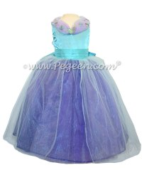 Pics For > Turquoise And Purple Flower Girl Dresses